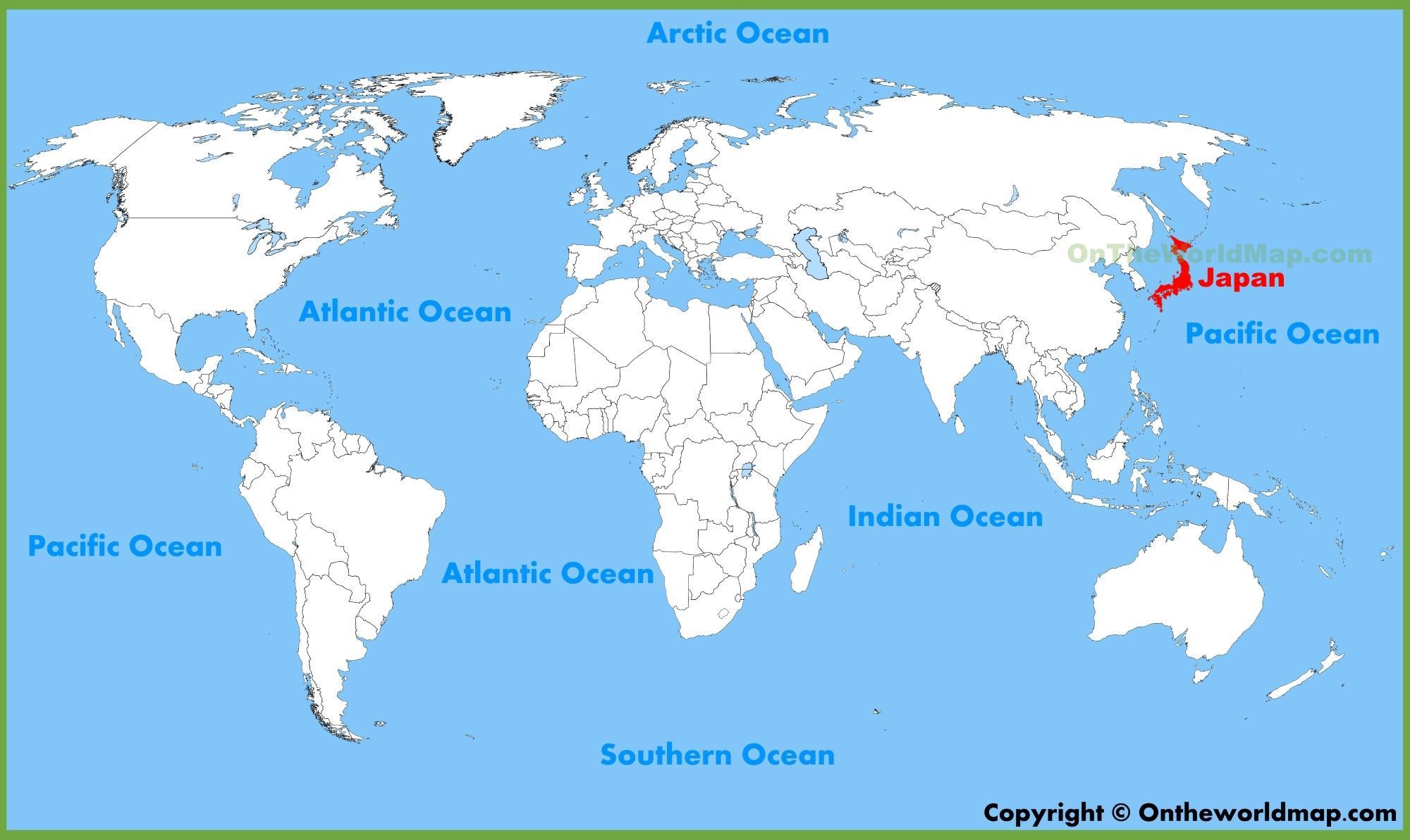 japon carte du monde