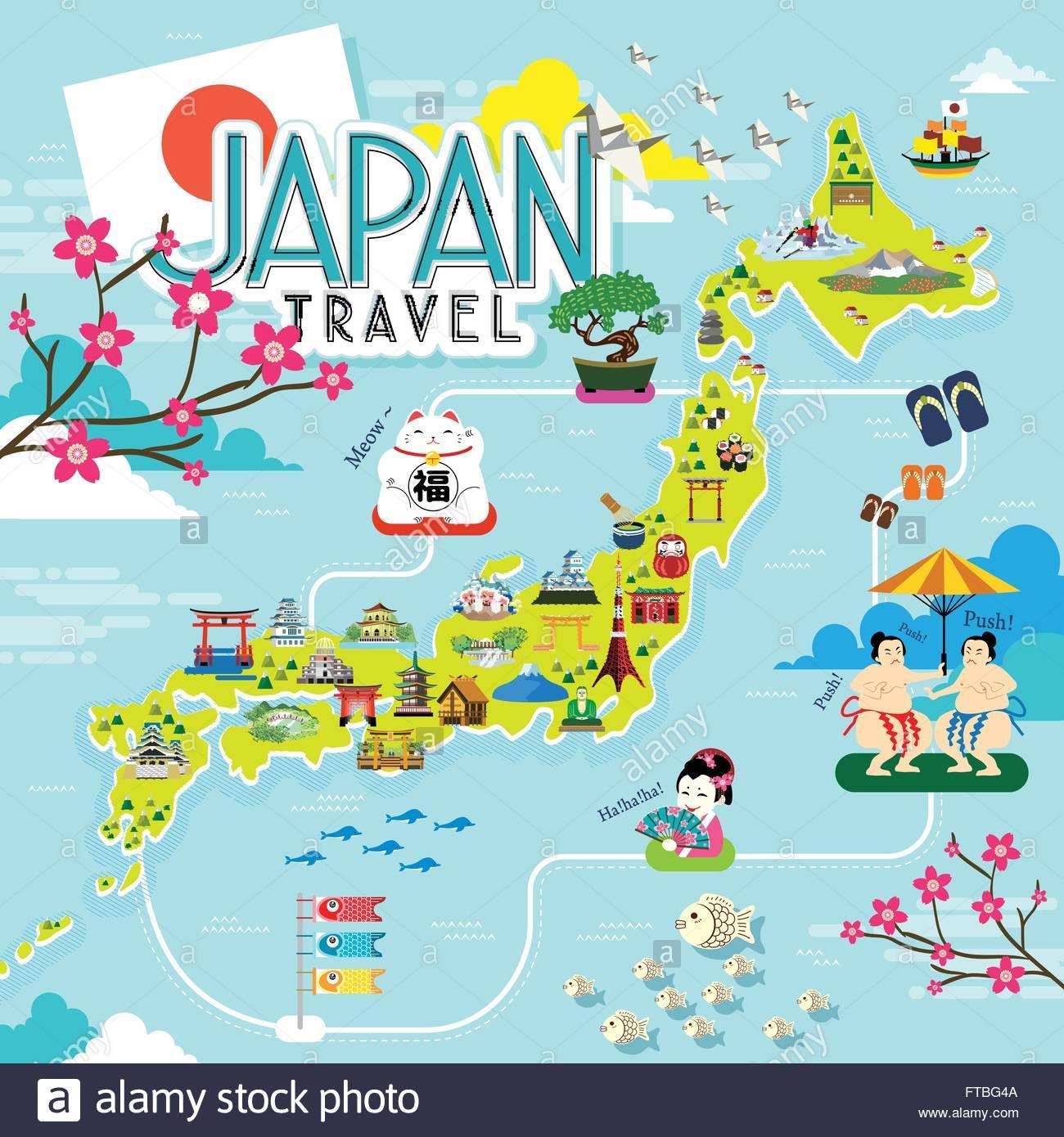 Carte Touristique Asie.Le Japon Carte Touristique Japon Carte De Touriste Asie