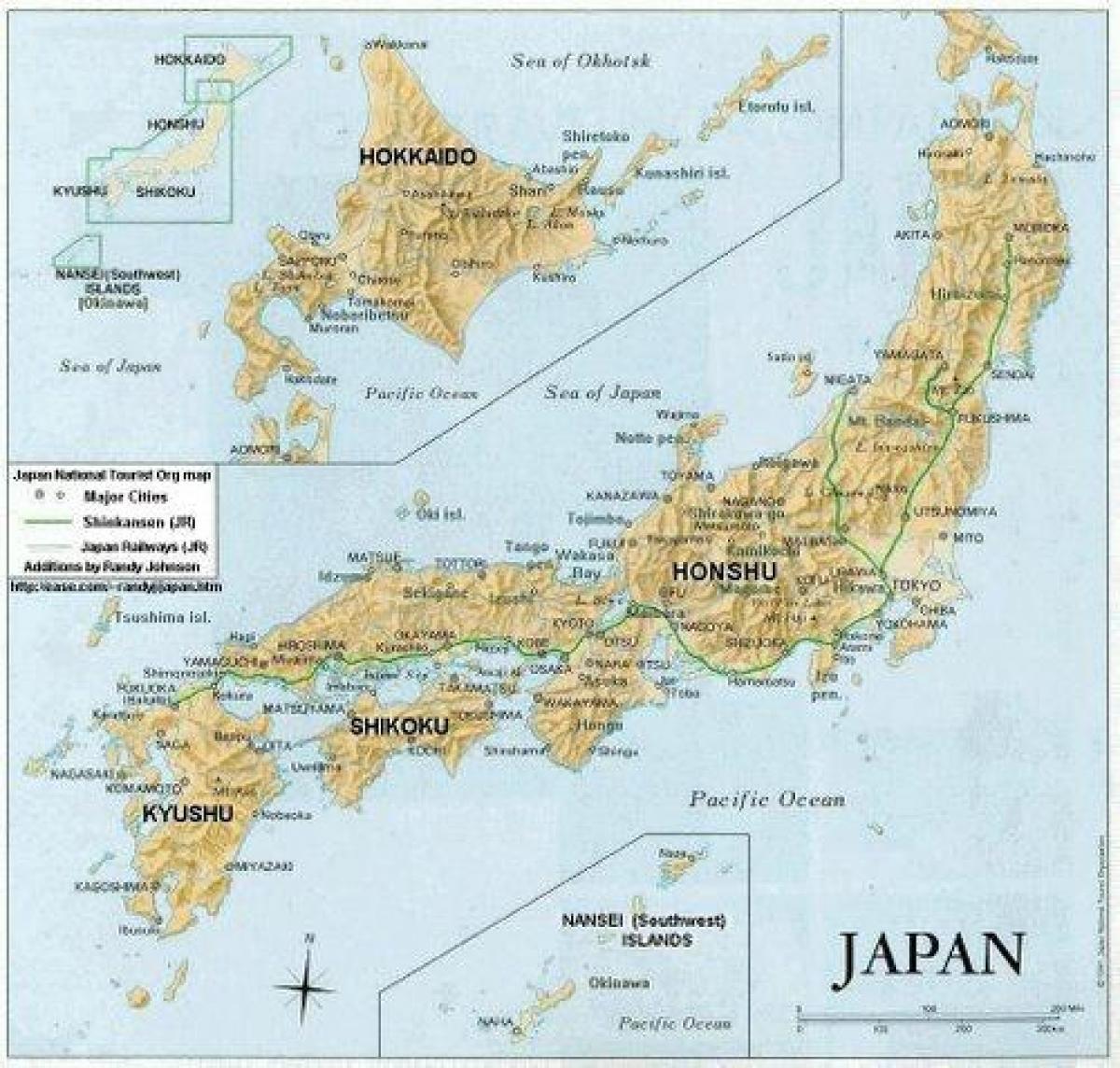 Carte détaillée du Japon