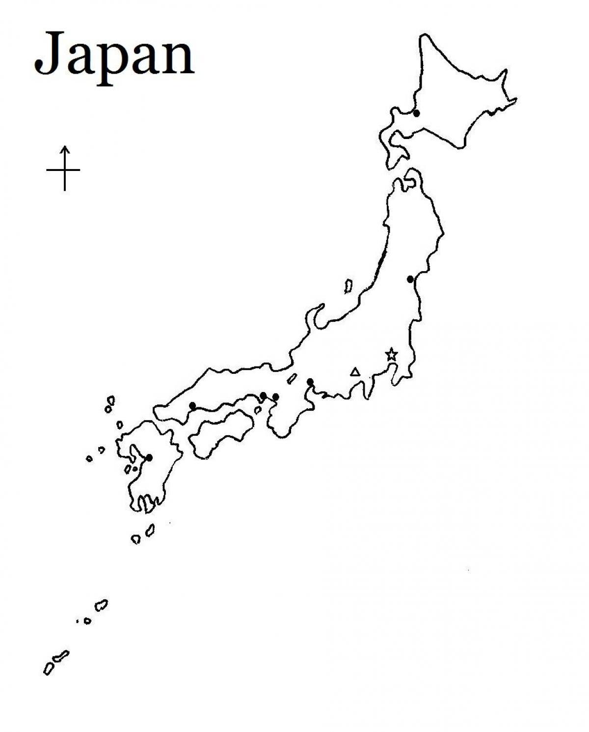 carte du japon simple Le japon carte simple   Simple carte du japon (Asie de l'est   Asie)