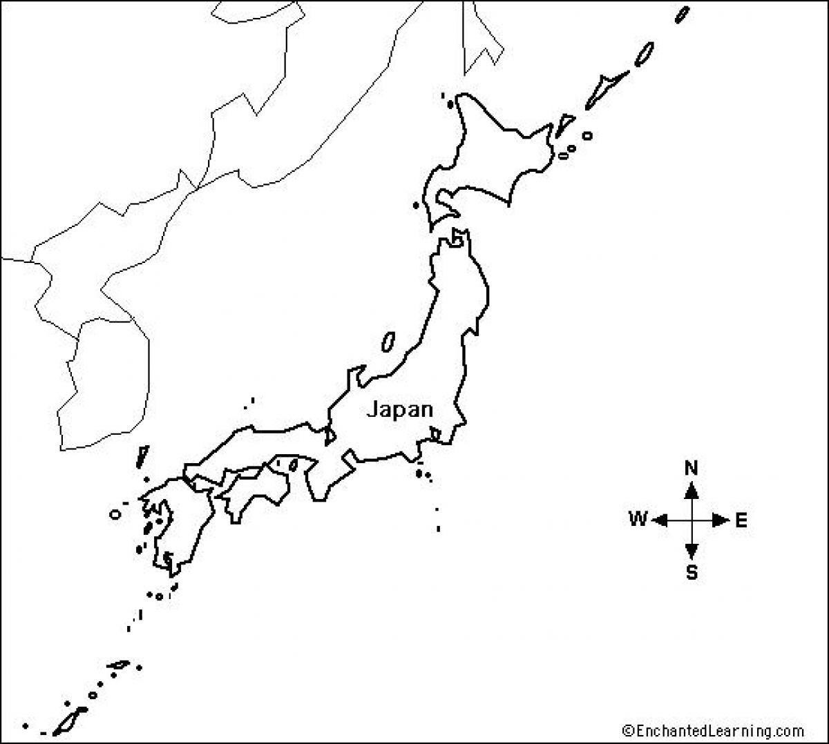 Carte Asie Est Vierge.Le Japon Carte Vierge Vide Japon Carte Asie De L Est Asie